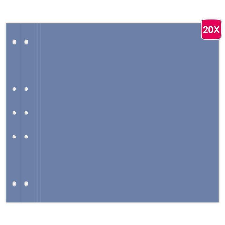 """Pages reportage 30x30cm """"Bleu jeans """""""