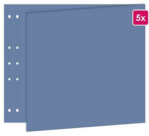 """Page reportage 30x60 cm """" Bleu jeans """" 5 pièces"""