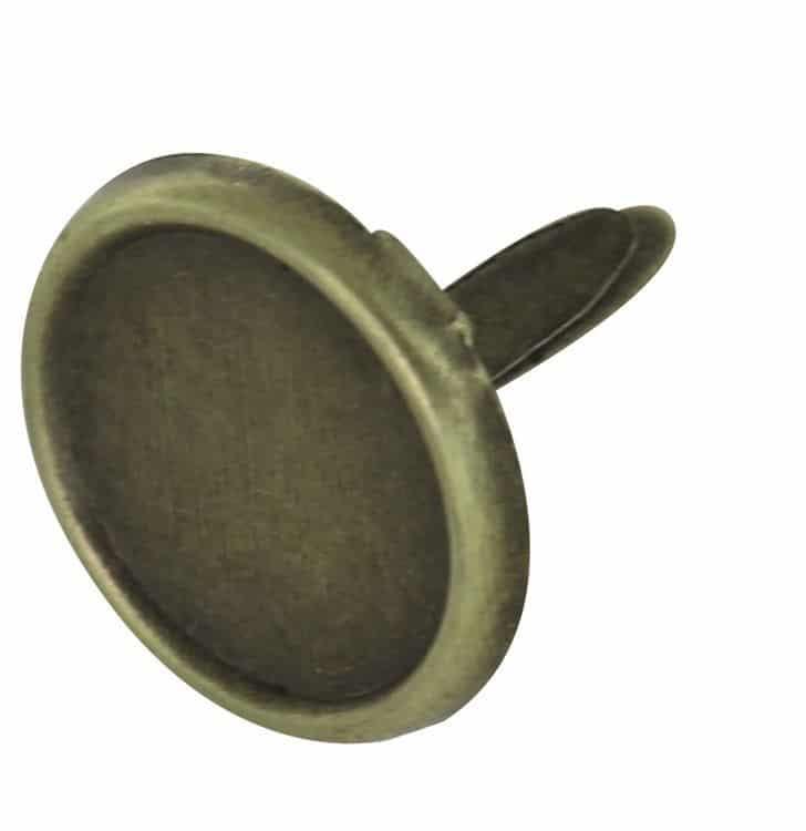 """Attaches parisiennes 10mm 10 pièces """" Bronze """""""