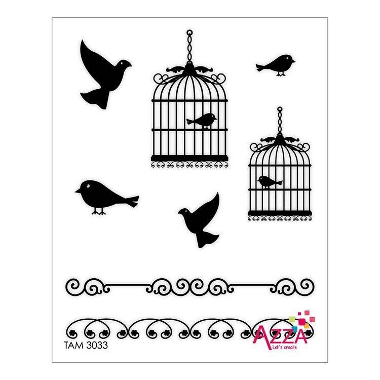 """Tampon rubis """" Cages et oiseaux """""""