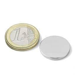 Disque magnétique 20mm, hauteur 2 mm (5 pièces )
