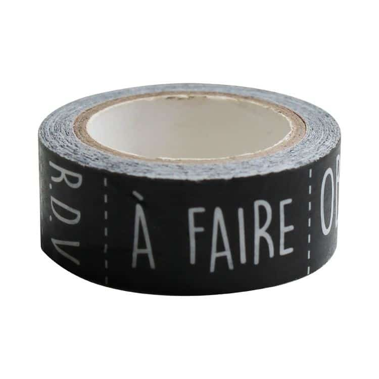 "I_FAN 400 Washi tape ""Jour semaine-week day"" 15mmx8m"