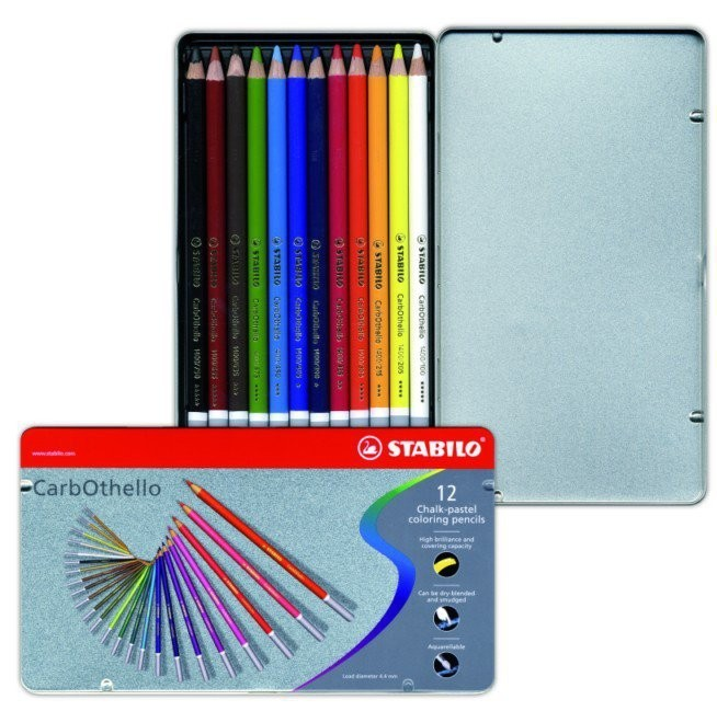 Coffret crayons-craie 12 couleurs