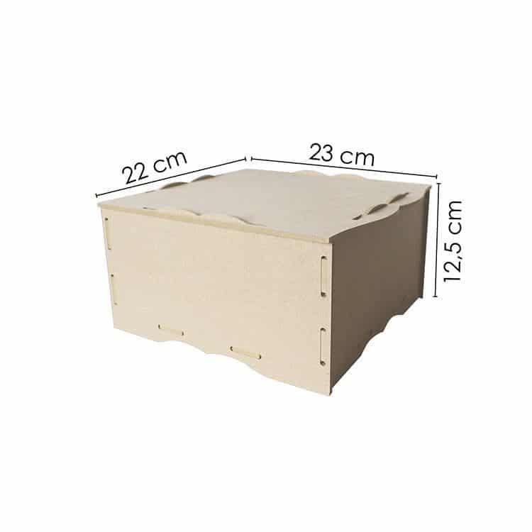 EQU 208 Boite de rangement avec couvercle