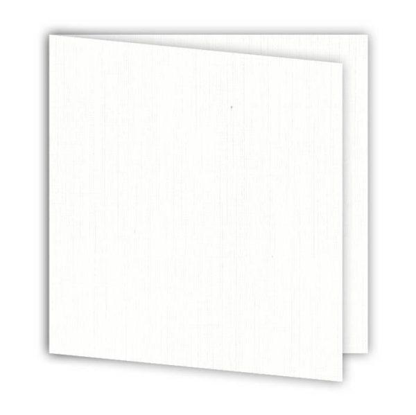 """Set de cartes 15x15 cm """"Blanc"""""""