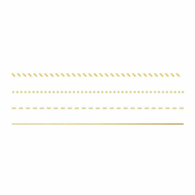 """FOIDIE 004 Set de matrices à dorer """"Ligne droites"""""""