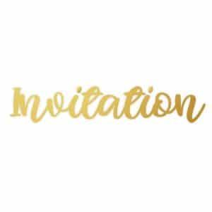 "FOIDIE 005 Matrice à dorer ""Invitation"""