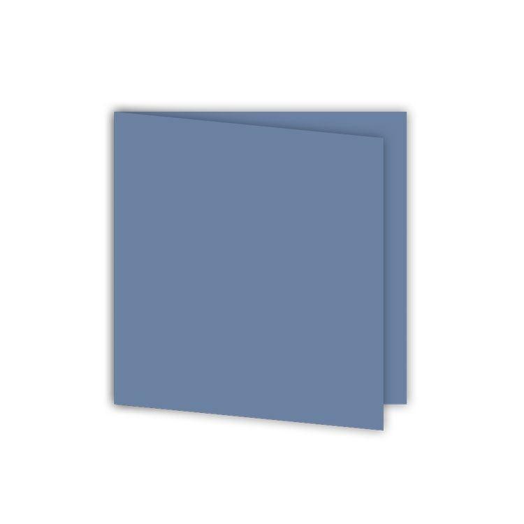ALB 642 Cartes 15 x15 'Bleu jean' (6 pcs)