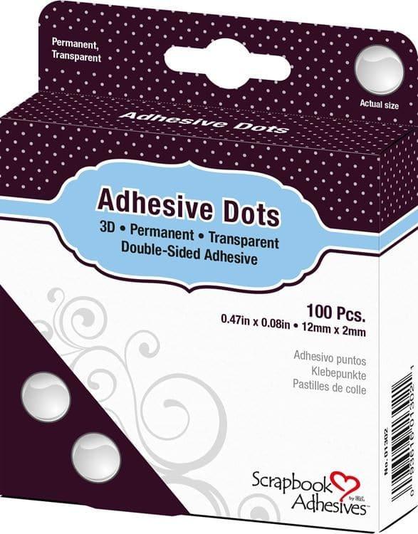 ADH 132 Pastilles de colle adhésives 3D 12x2mm (100pcs)