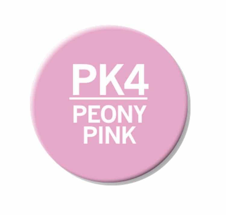 CHAENC 033 Kit de recharge d'encre 25ml 'Peony pink' PK4