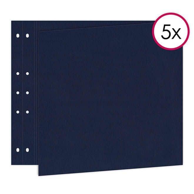 ALB 815 Pages Reportage 30x60 'Bleu' horizontal (5p)