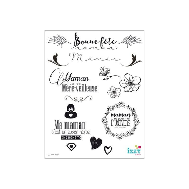 I TAM 1027 Tampons diamant 'Les mamans'