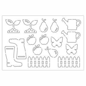 PAP 4011 Figurines silhouette 'Dans mon jardin''