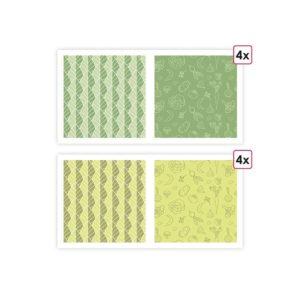 PAP 0065 Papier imprimés 'Dans mon jardin' (8 f)