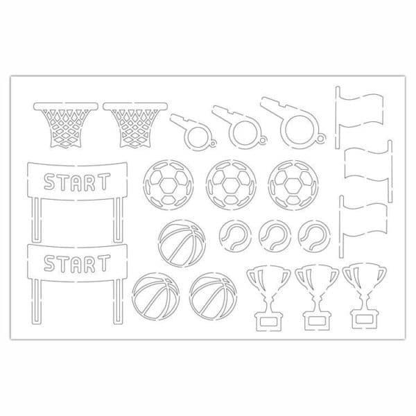 PAP 4010 Figurines silhouette 'Sport'