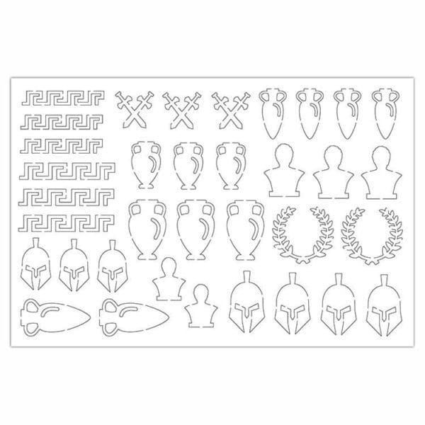 PAP 4013 Figurines silhouette 'Civilisation antique'