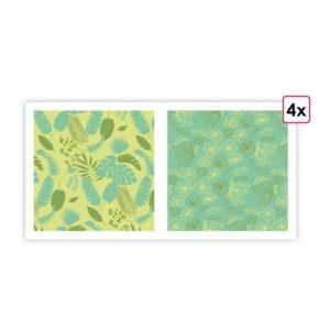 I PAP 074 Papiers imprimés 'Jardin enchanté' (8f)
