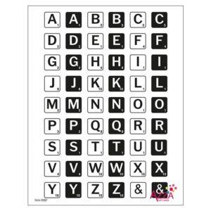 TAM 0087 Tampons diamant 'Alphabet jeu de mot'