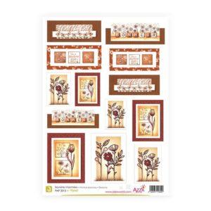PAP 3013 Saynètes imprimées 'Floral'