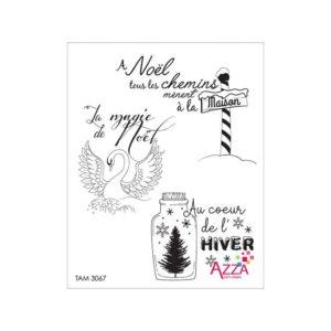 TAM 3067 Tampons rubis 'Mots lac givré'