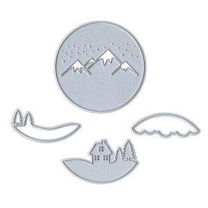 I_DIE 091 Matrices de découpe 3D 'Chalet d'hiver'
