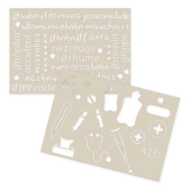 GAB 305 Gabarit décor et texture 'Aux petits soins'