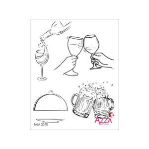 TAM 3070 Tampons rubis 'C'est la fête'