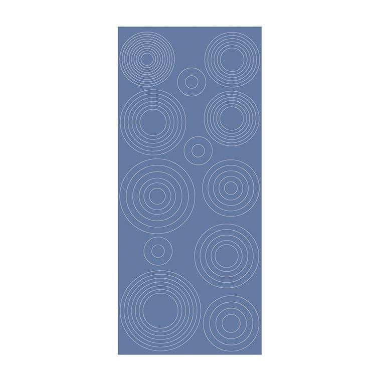 PAP 712 Sticker contour Ronds concentriques - mirror ice