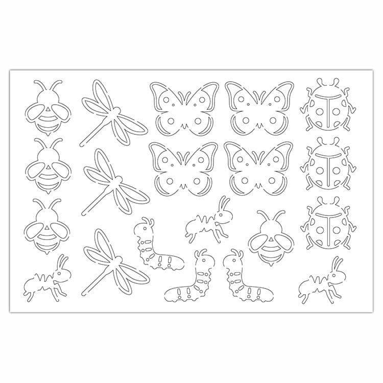 PAP 4026 Figurines silhouette 'Petites bêtes'