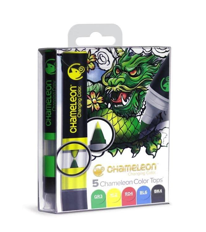 CHA 021 Chameleon - Color tops 'Tons primaires (5pcs)