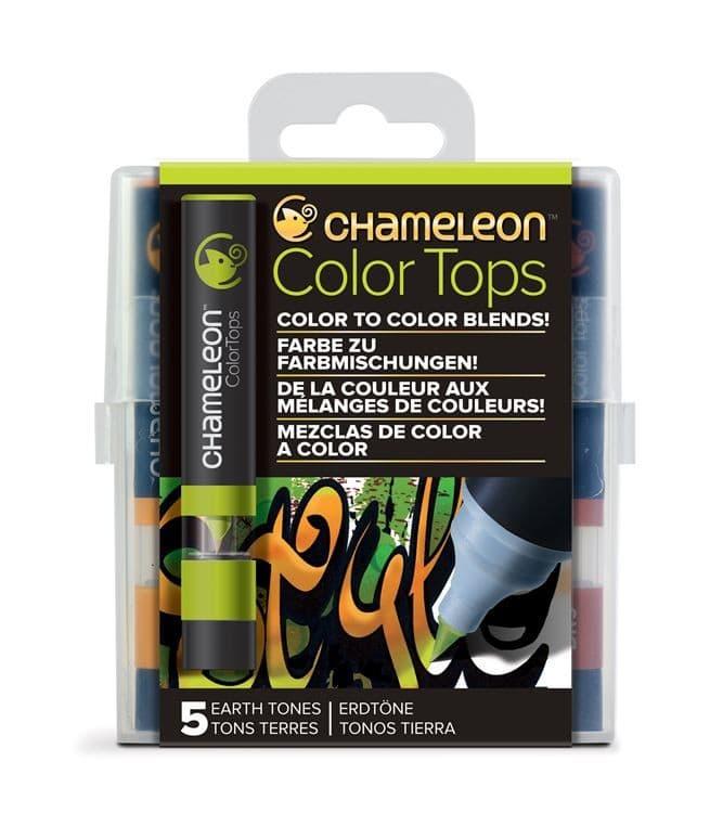 CHA 022 Chameleon - Color tops 'Tons terre' (5pcs)