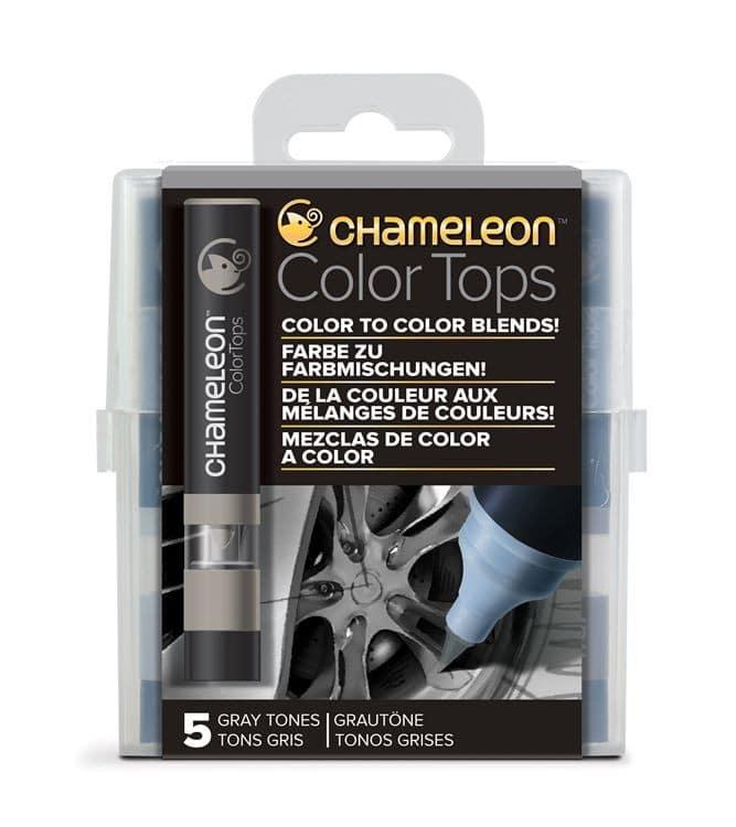 CHA 024 Chameleon - Color tops 'Tons gris' (5pcs)