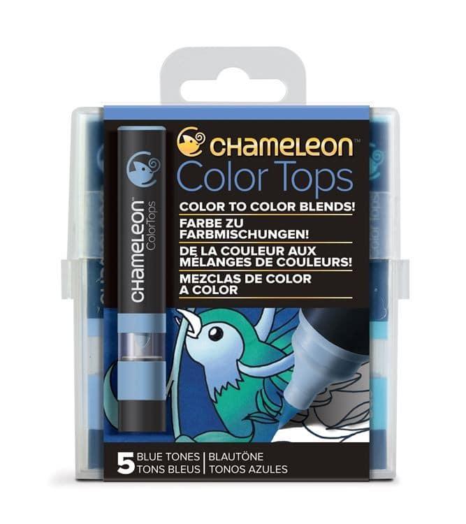 CHA 028 Chameleon - Color tops 'Tons bleu' (5pcs)