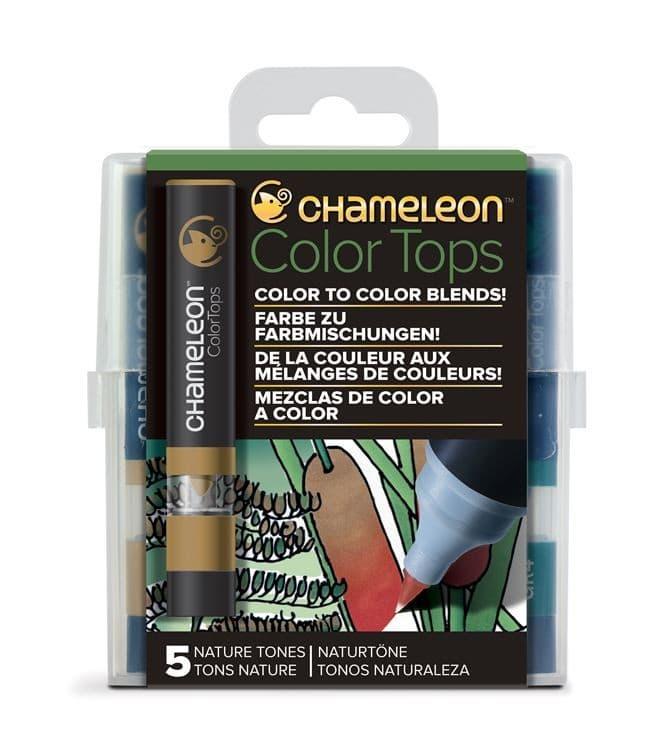 CHA 029 Chameleon - Color tops 'Tons nature' (5pcs)