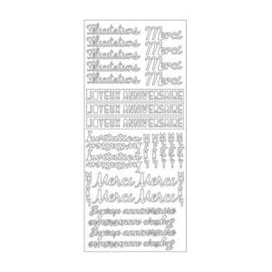 PAP 709 Stickers contour 'Mots blanc'