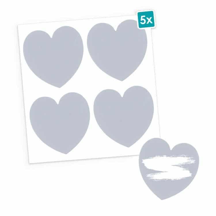 I_FAN 602 Sticker à gratter - Cœur (20pcs)