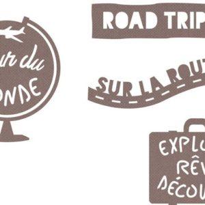 DIE 159 Matrices de découpe 'Mots Road trip'