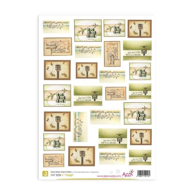 PAP 3028 Saynètes imprimées 'Voyage'
