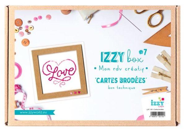 I_KIT 1109 Izzy box Technique 'Cartes brodées'