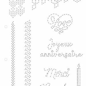 I_GAB 301 Gabarit couture 'Mots & textures' (A4)