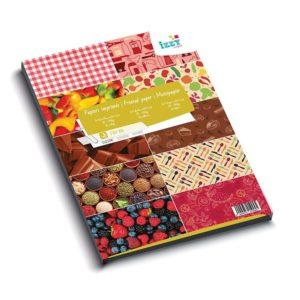 PAP 816 Bloc de papiers imprimés A4 'Cuisine'