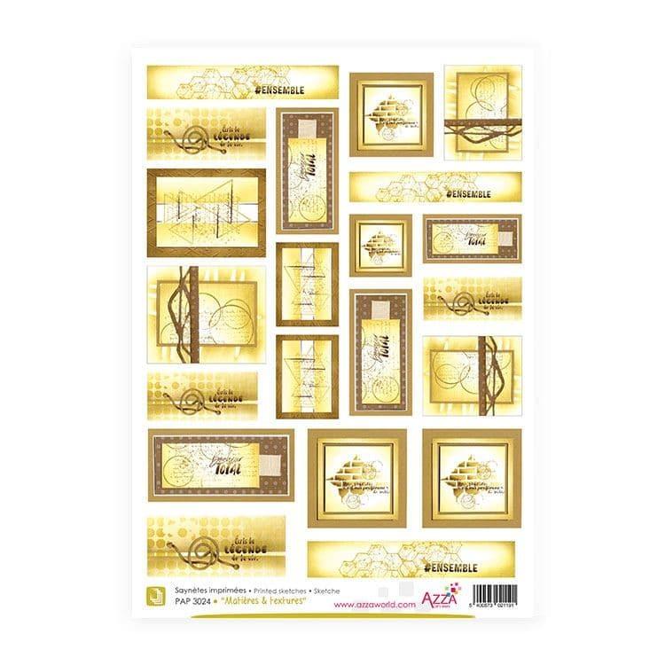 PAP 3024 Saynètes imprimées 'Matières & textures'