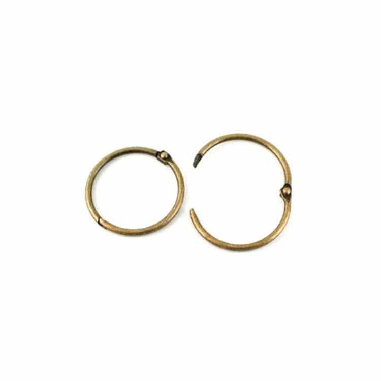 ACC 2118 Anneaux de reliure 2,5cm - Bronze (6 pces)