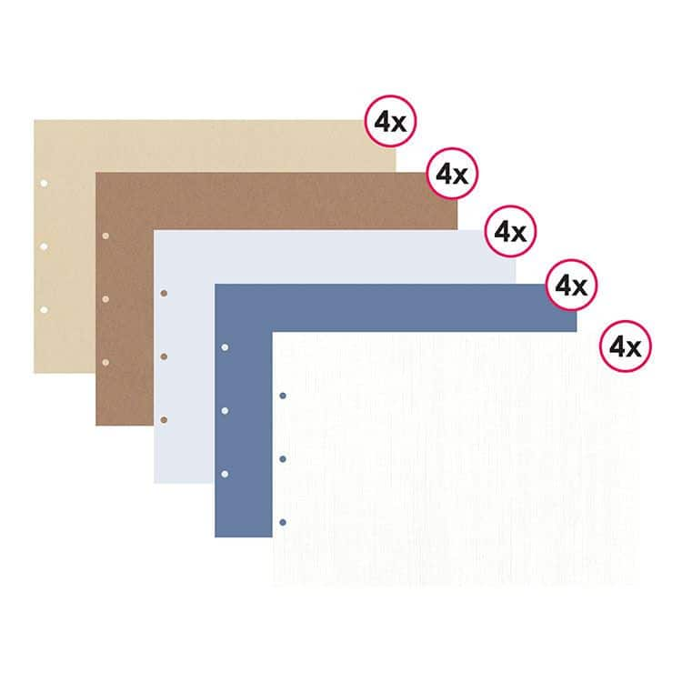 ALB 484 Assortiment 20 pages format 21x30 cm 'Denim'