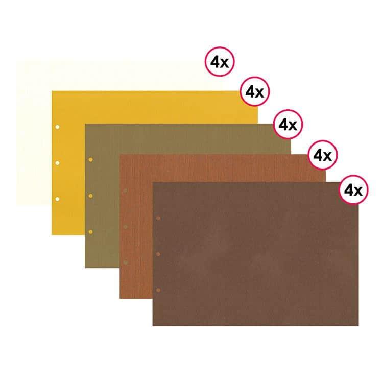 ALB 485 Assortiment 20 pages format 21x30 cm 'Feuillage'