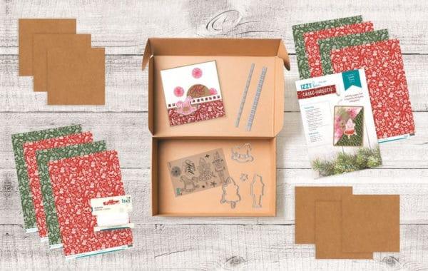 I_KIT 1114 Izzy box 'Cartes de Noël Casse noisette'