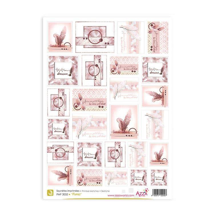 PAP 3032 Saynètes imprimées 'Plume'