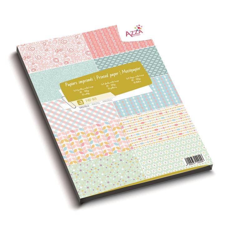 PAP 821Bloc de papiers A4 'Essentiel Pastels'