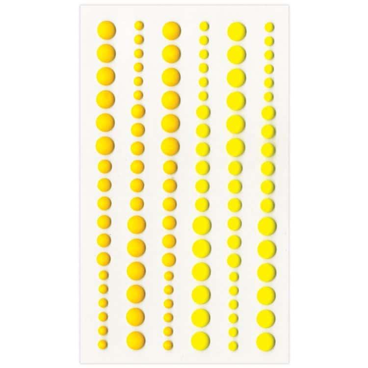 PER 4054 Perles de résines mat 'Citrine'
