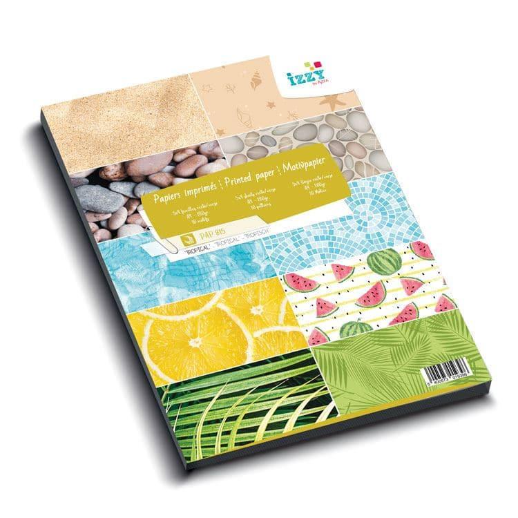 PAP 815 Bloc de papiers imprimés A4 'Tropical'